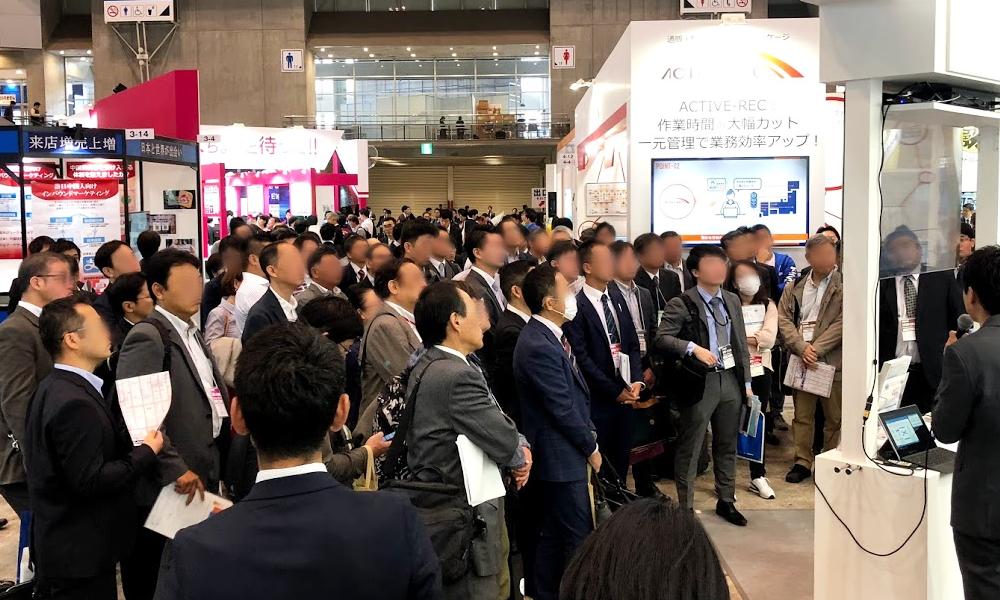 「2018 Japan IT Week 秋」NTTデータブースにおけるミニセミナーの様子